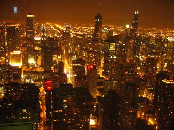 永遠亮晶晶的Chicago夜空