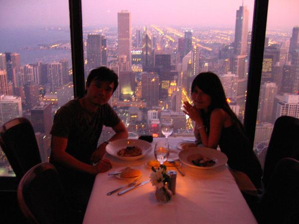 在95樓的優雅晚餐