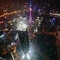上海環球金融中心看夜景!真壯觀~