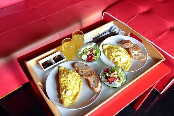 民宿的早餐超好吃!