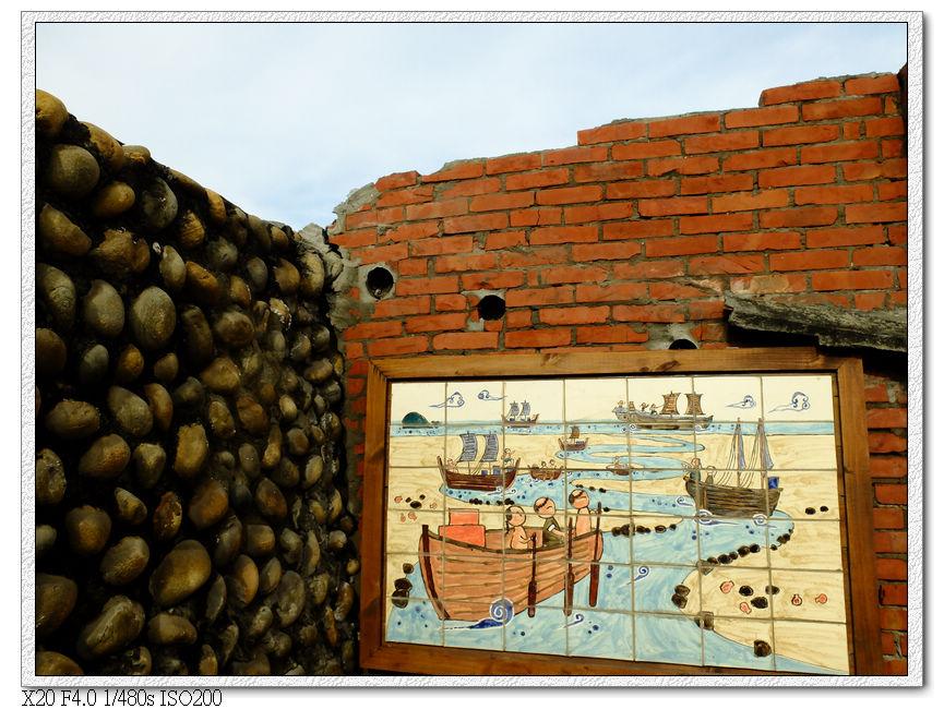 壁面上有大安港發展史