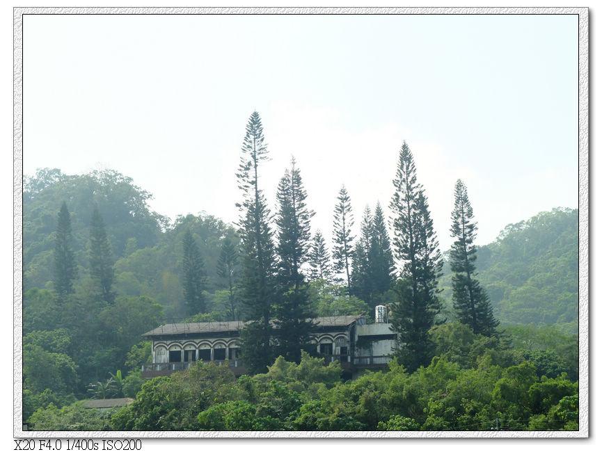 對面山坡上的住宅