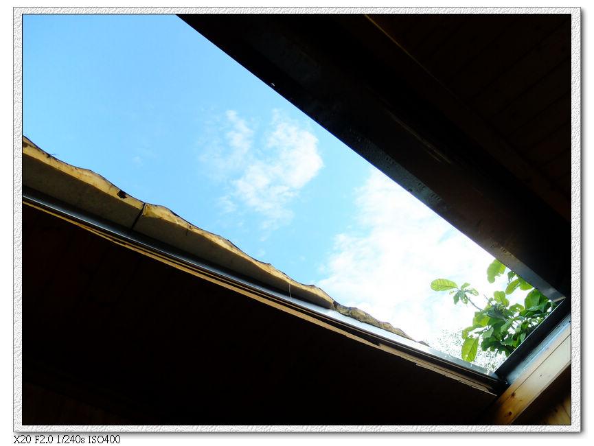 透過天窗看天空