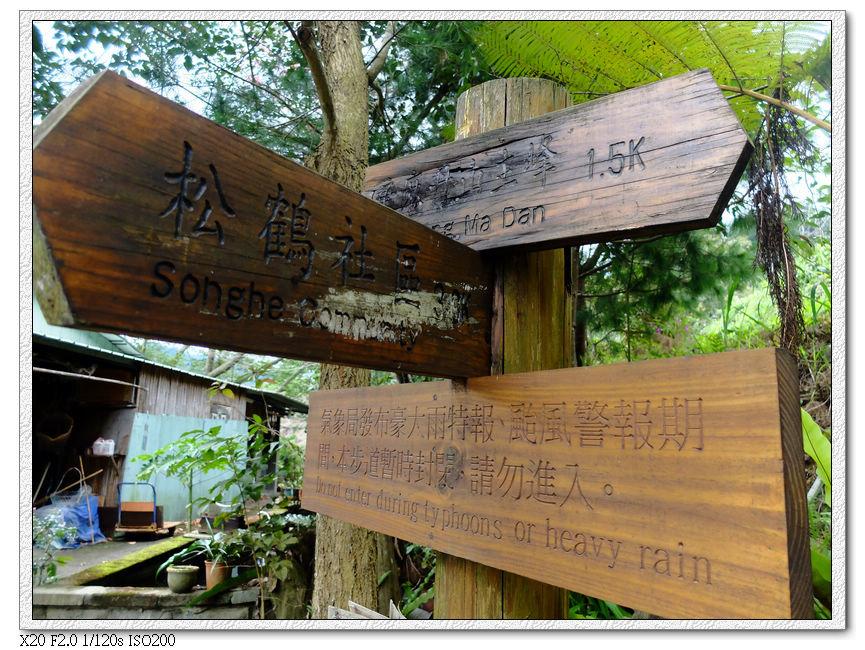 松鶴登山口指標,怪怪的