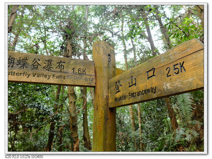 離瀑布1.6km