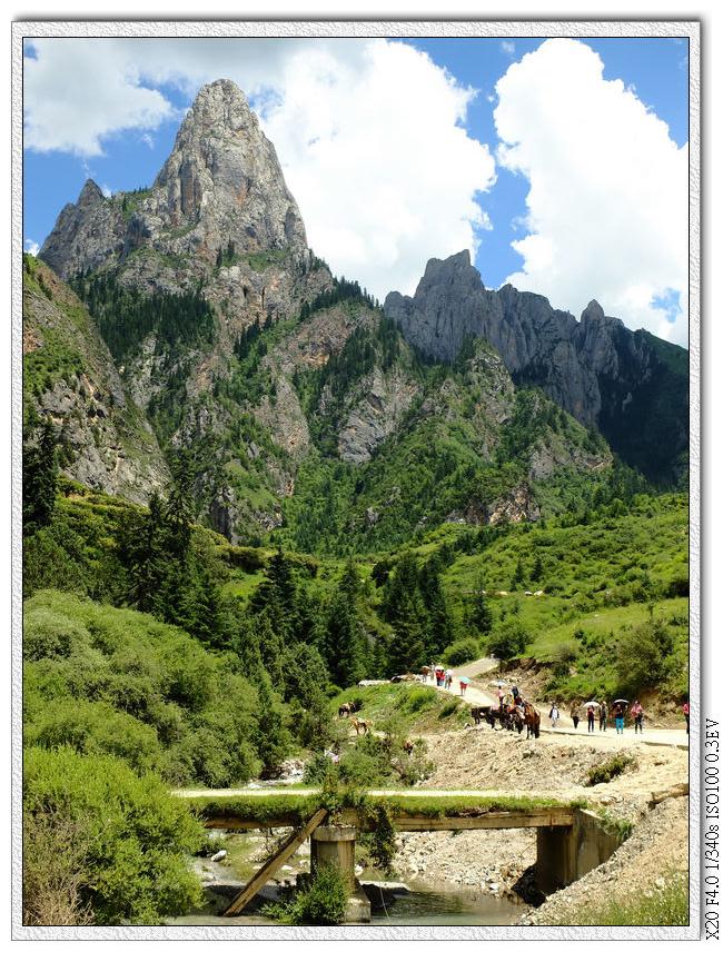 扎尕那入口往山上去的另一條路