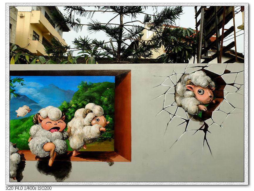 九房社區童話彩繪-3,大野狼跟七隻小羊