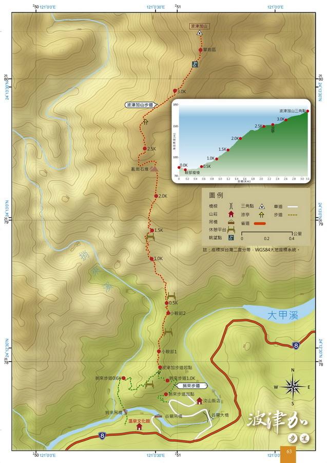 波津加的地圖