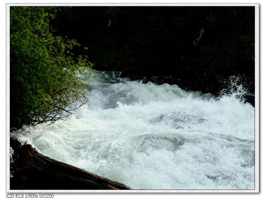 沿著溪水前進