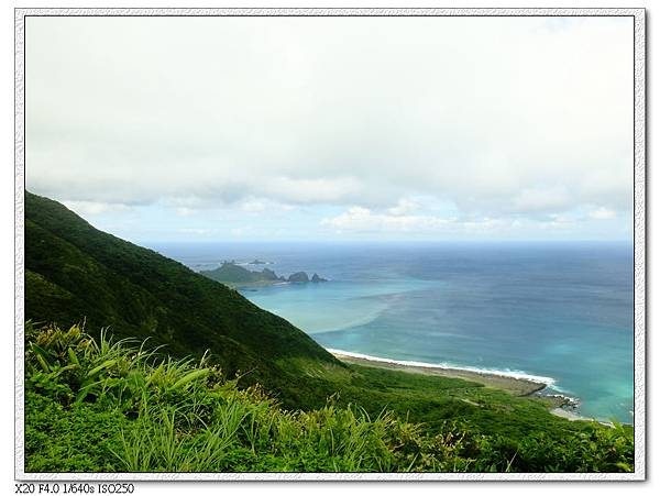小蘭嶼周圍完美海色分層