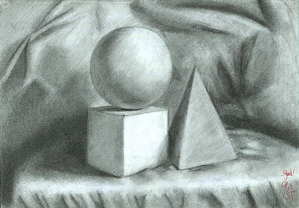 美術補習班素描作品