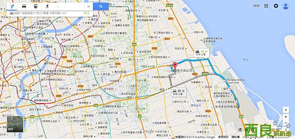 上海浦東國際機場 至 歐帝臻品酒店 - Google 地圖