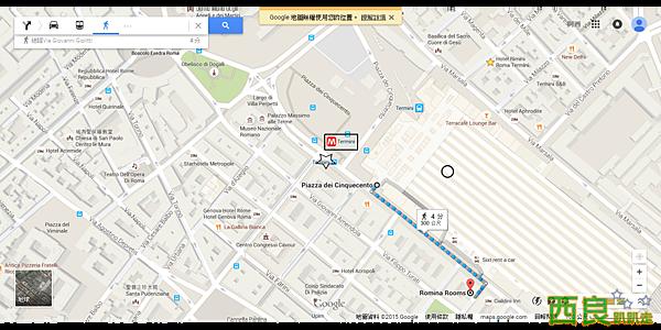 Piazza dei Cinquecento, 00185 Roma, 義大利 至 Romina Rooms - Google 地圖.png