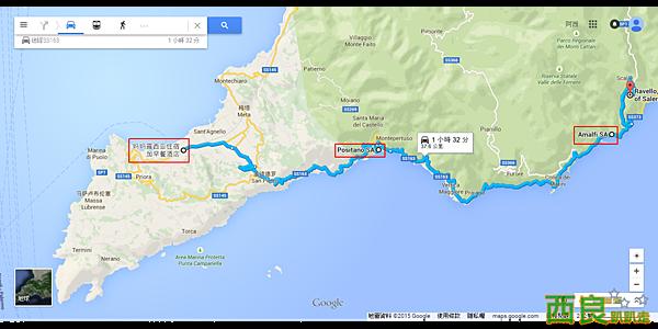 妈妈露西亚住宿加早餐酒店 至 拉韦洛 Ravello - Google 地圖.png