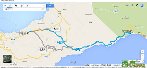 妈妈露西亚住宿加早餐酒店 至 波西塔诺 Positano - Google 地圖.png