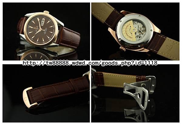 藍寶石錶面雙日歷 全自動機械背透機芯 精品男錶 本店售價:台幣$3500元  .jpg