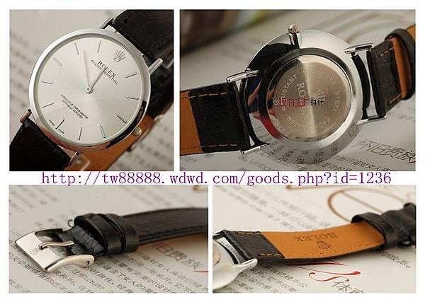 勞力士新款腕表男士手錶 皮帶手錶 石英手錶 男錶 超薄手錶品牌   本店售價:台幣$2700元.jpg