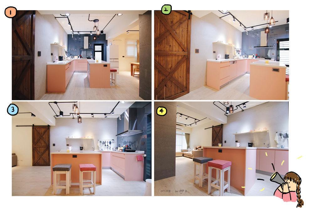 粉紅廚房 粉色廚房 系統廚具推薦
