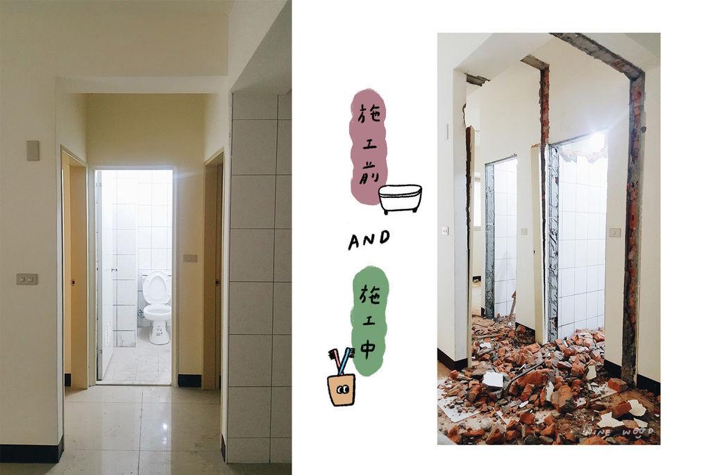 廁所裝潢 舊翻新 穀倉門 環保密集板