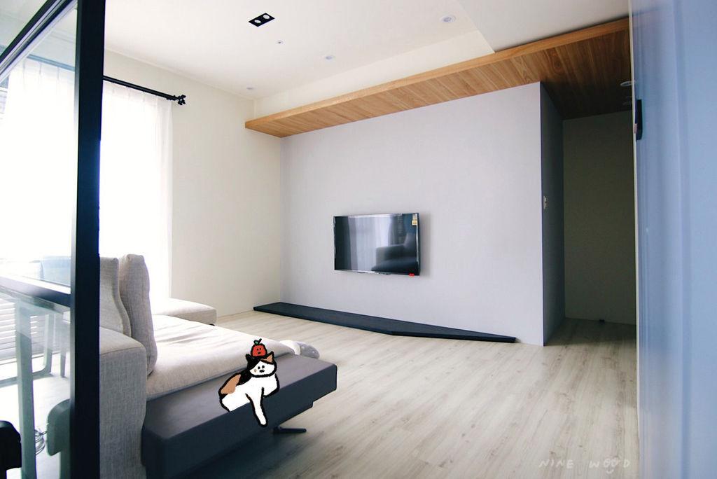 客廳設計 電視牆設計 實木設計 天花板設計