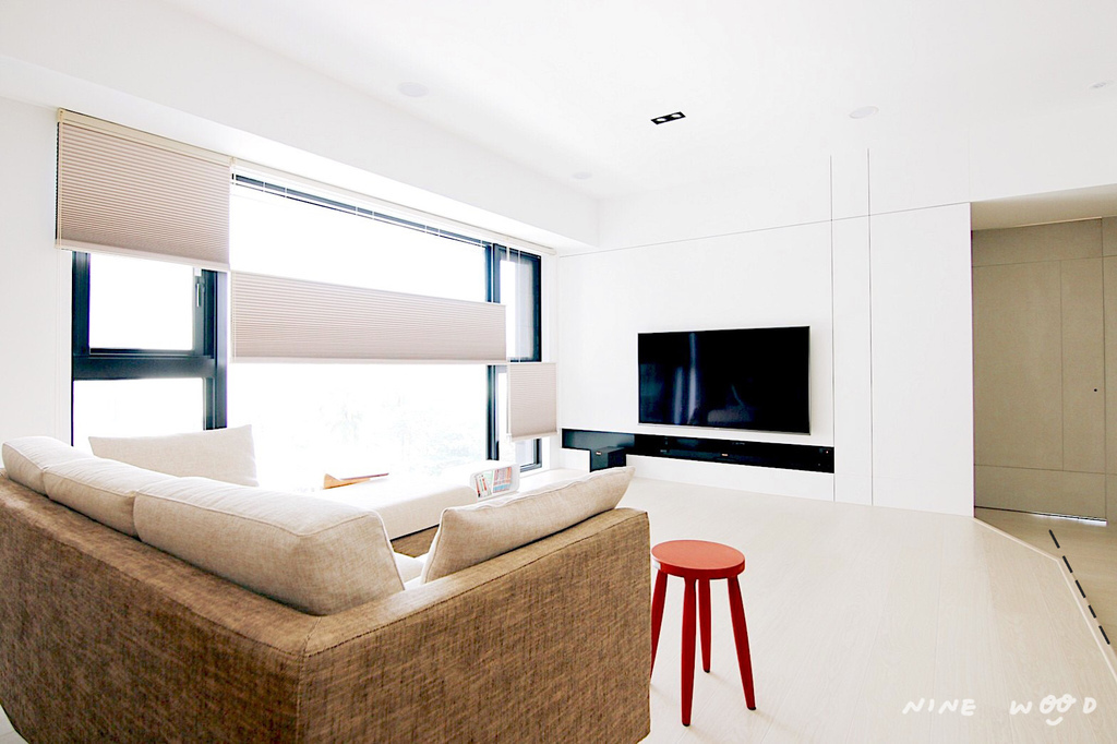 電視牆 電視牆設計 客廳設計 儲物空間 架高設計