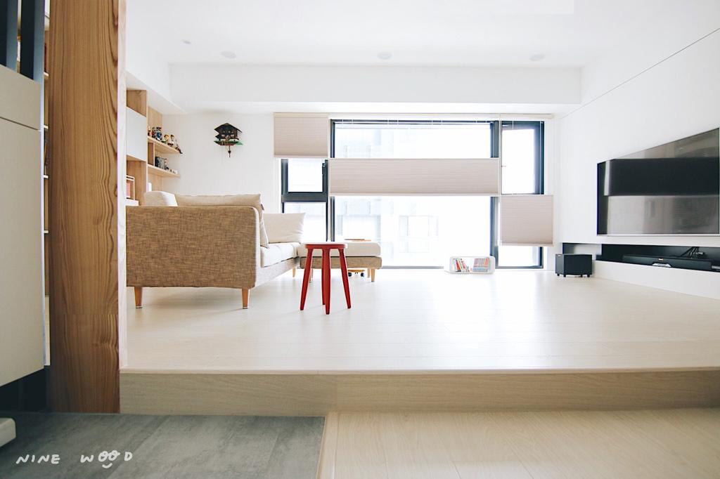 蜂巢簾 窗簾設計 風琴簾客廳設計
