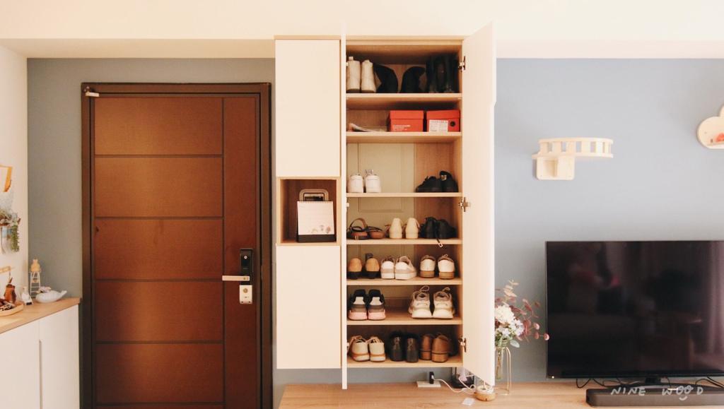 鞋櫃設計 玄關櫃設計 鞋櫃推薦ptt 玄關櫃推薦   木格柵  清水模 系統櫃 系統家具
