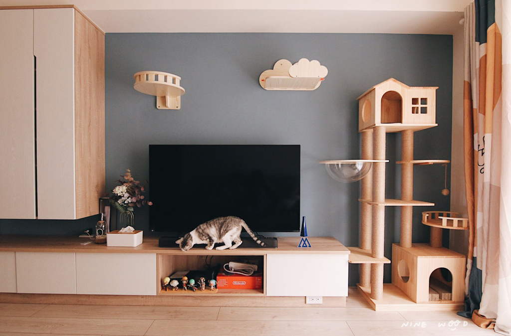 貓宅 溫馨住宅 貓跳台 貓咪住宅設計