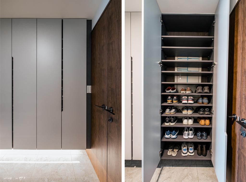 青埔室內設計 鞋櫃設計 外玄關