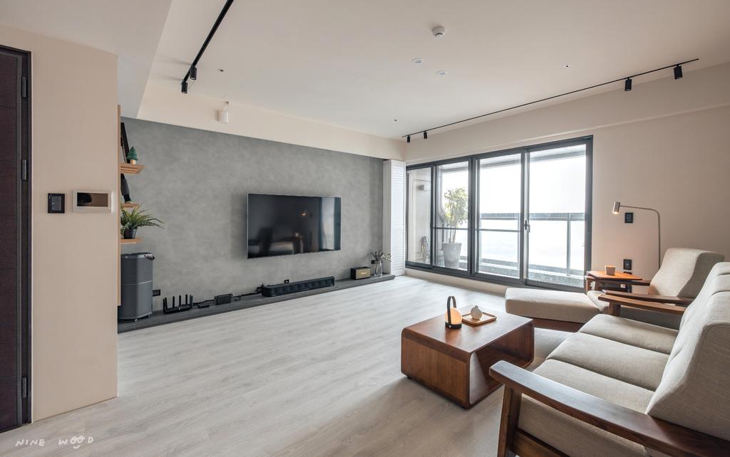 客廳裝潢 裝潢設計 室內裝潢 裝潢擺設 書櫃設計 電視牆設計 電視牆