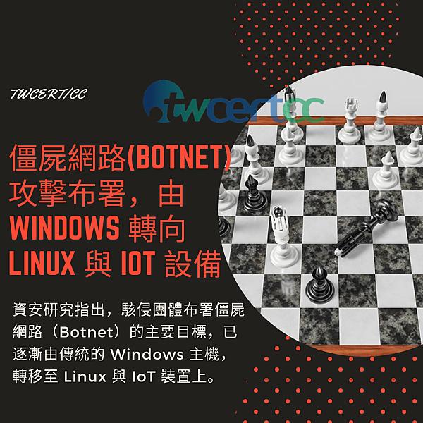 0621僵屍網路(Botnet)攻擊布署,由 Windows 轉向 Linux 與 IoT 設備.png
