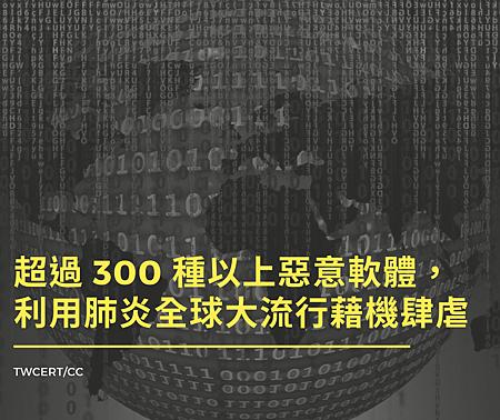 超過 300 種以上惡意軟體,利用肺炎全球大流行藉機肆虐.png