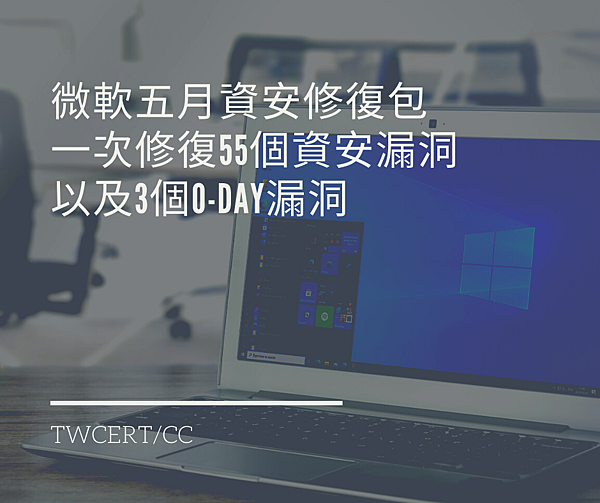 微軟五月資安修復包,一次修復 55 個資安漏洞,以及 3 個 0-day 漏洞.png