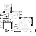 權釋設計-敦化吳公館-13樓平配圖