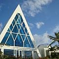 漂亮的藍水晶教堂