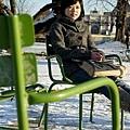tuileries花園,冷冰冰的椅子,坐上去屁股很冷
