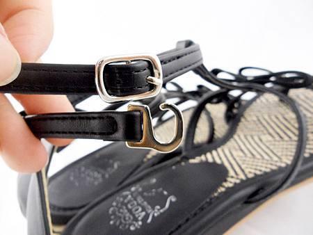 編織蝴蝶結涼鞋001