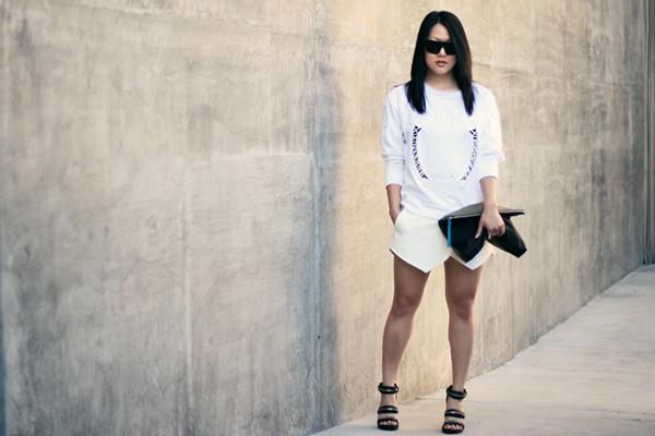 baroque sweatshirt zara white skort alexander wang kyla sandals by versastyle 1