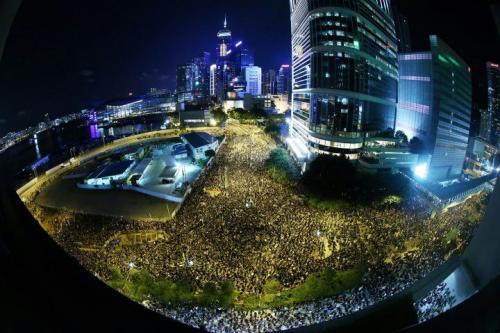 HK in protest