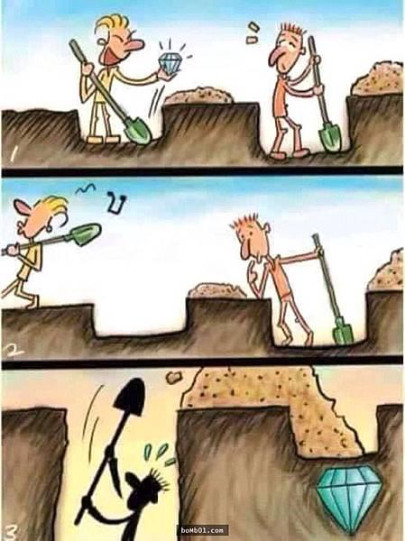 面對目標堅持下去,才能看到自己的機會.jpg