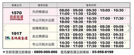 2014童玩節接駁車時刻表