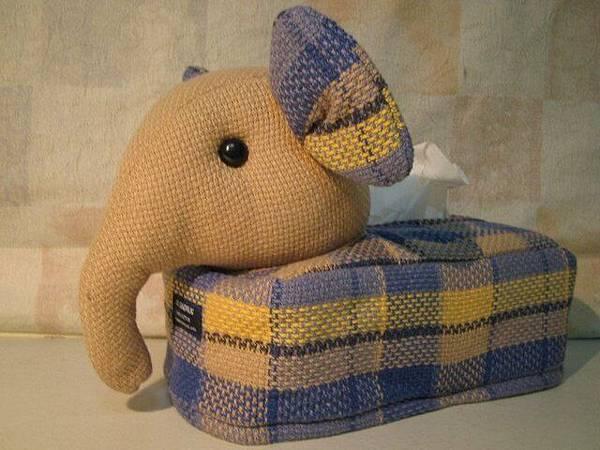 大象衛生紙盒
