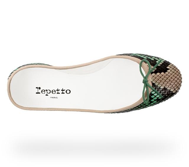 Repetto 仙人掌綠蟒蛇皮芭蕾舞鞋,2.8折優惠價6,160元-005