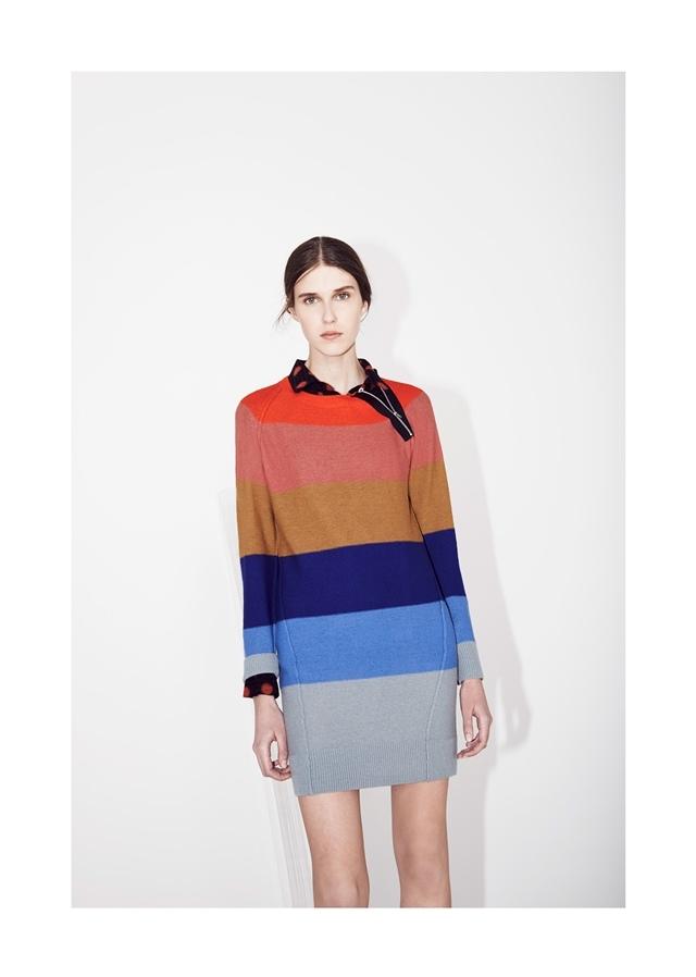 SONIA BY SONIA RYKIEL 經典彩條羔羊毛針織洋裝,3.8折優惠價7,744元-010