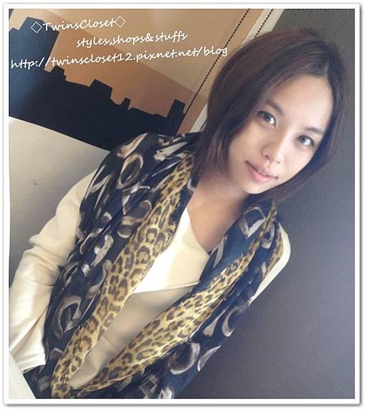 豹紋圍巾U3