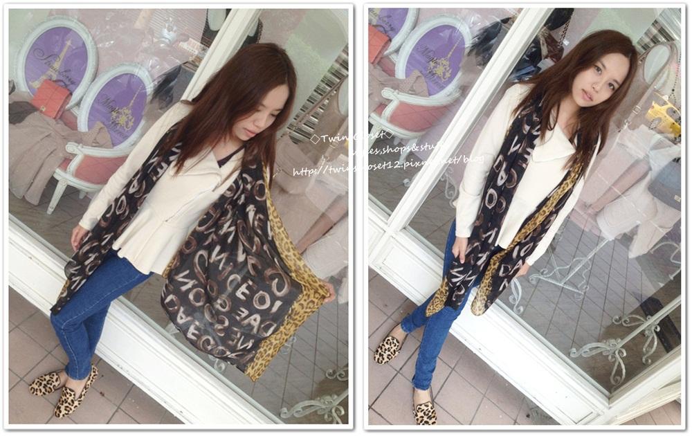 豹紋圍巾U5