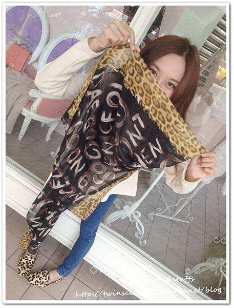 豹紋圍巾U6