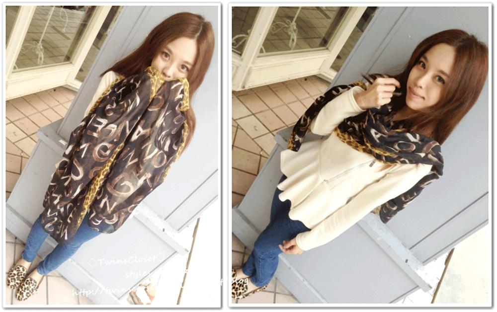 豹紋圍巾U7