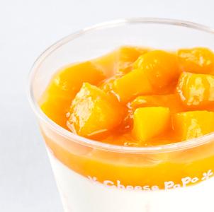 小示意圖芒果奶酪