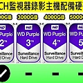 台中監視器材批發-八路監視錄影主機硬碟級數表-8路硬碟錄像機.jpg